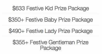 Festive Family Traditions Prize Packages
