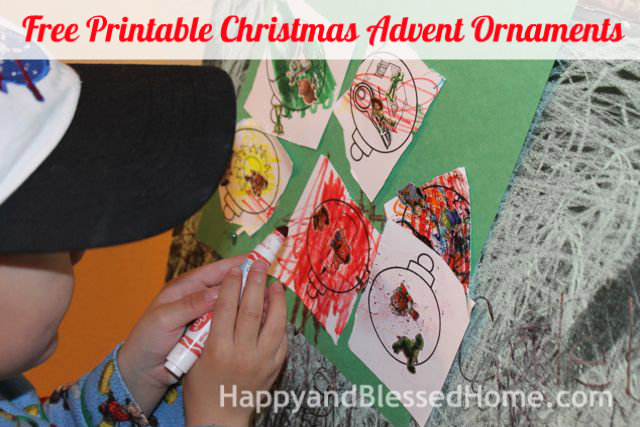 Free Printable Christmas Advent Ornaments 3 HappyandBlessedHome.com