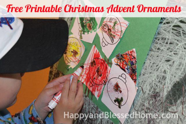 Free Printable Christmas Advent Ornaments 3 HappyandBlessedHome.com
