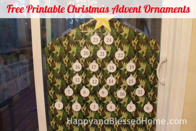 Free Printable Christmas Advent Ornaments 5 HappyandBlessedHome.com