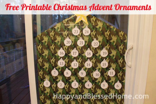 Free Printable Christmas Advent Ornaments 5 HappyandBlessedHome.com