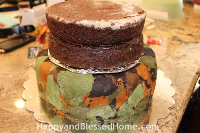 Half Frosted High Altitude Chocolate Cake HappyandBlessedHome