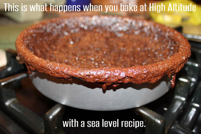 How to Bake a High Altitude Chocolate Cake Failure HappyandBlessedHome.com