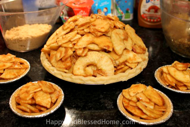 How to Make Carmel Pecan Apple Pie -Stack- Delicious Holiday Dessert, Thanksgiving Pie or Christmas Pie from HappyandBlessedHome.com