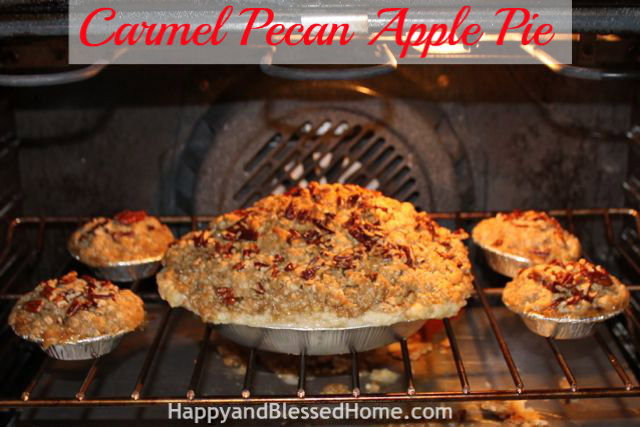 How to Make Carmel Pecan Apple Pie -Unwrap- Delicious Holiday Dessert, Thanksgiving Pie or Christmas Pie from HappyandBlessedHome.com