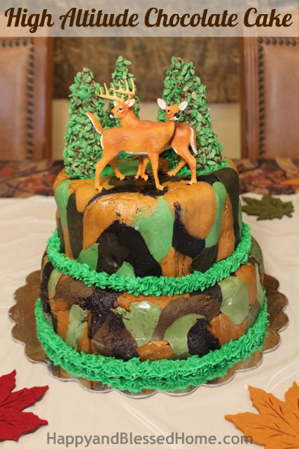 How to Make a Camouflage Cake 4 Hunting Theme Birthday Party HappyandBlessedHome