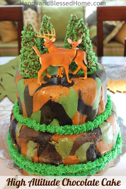 How to Make a Camouflage Cake Hunting Theme Birthday Party HappyandBlessedHome