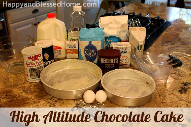How to Make a High Altitude Chocolate Cake Birthday Party HappyandBlessedHome
