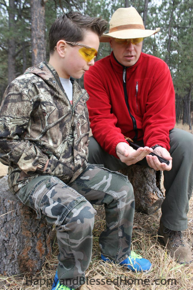 How to load a Red Ryder Daisy BB Gun to Teach a Hunter in Training HappyandBlessedHome.com