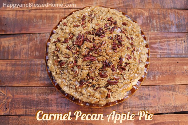 How to make Carmel Pecan Apple Pie with Scented Gift Ideas from HappyandBlessedHome.com
