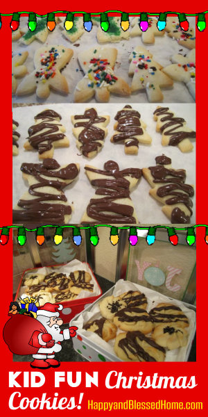 Kid Fun Christmas Cookies HappyandBlessedHome.com