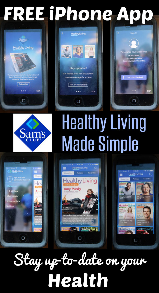 Sams Healthy Living Made Simple FREE iPhone App HappyandBlessedHome.com