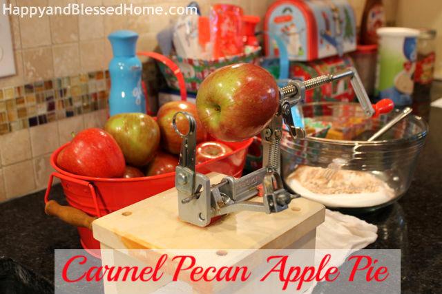 Setup Carmel Pecan Apple Pie Holiday Desserts Thanksgiving Pie Christmas Pie HappyandBlessedHome.com