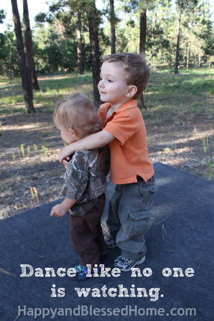 Teaching Toddlers Thankfulness - Dance Like No One Is Watching Photo Copyright 2014 HappyandBlessedHome.com
