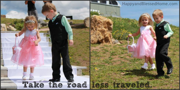 Teaching Toddlers Thankfulness - Road less traveled Photo Copyright 2014 HappyandBlessedHome.com