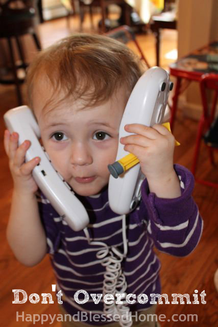 Teaching Toddlers Thankfulness - Do Not Overcommit Photo Copyright 2014 HappyandBlessedHome.com