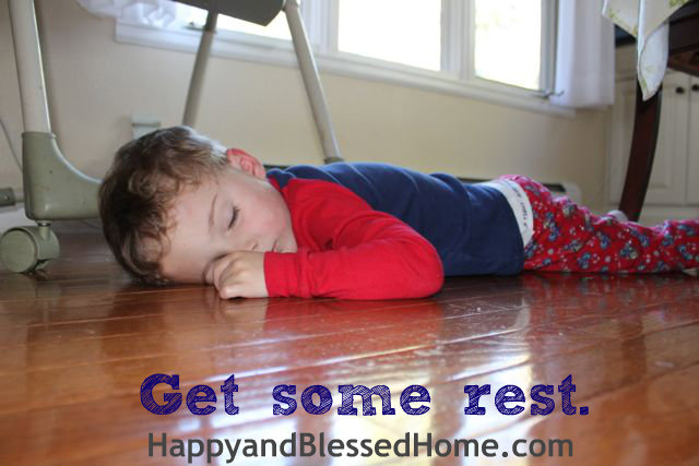 Teaching Toddlers Thankfulness Get Rest - photo copyright 2014 HappyandBlessedHome.com