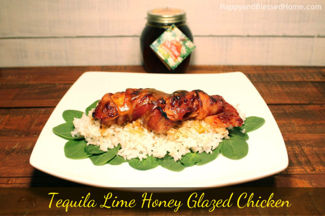 Tequila Lime Honey Glazed Chicken with Don Victor Honey HappyandBlessedHome.com