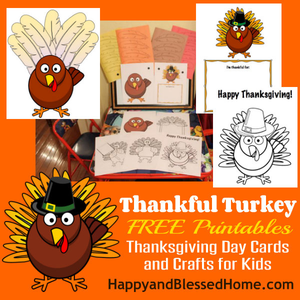 FREE Printable Thanksgiving Day Cards and Crafts for Kids