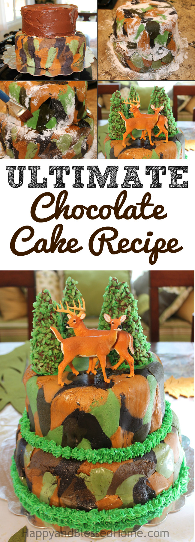The last chocolate cake recipe you'll ever need - makes perfect cakes every time.