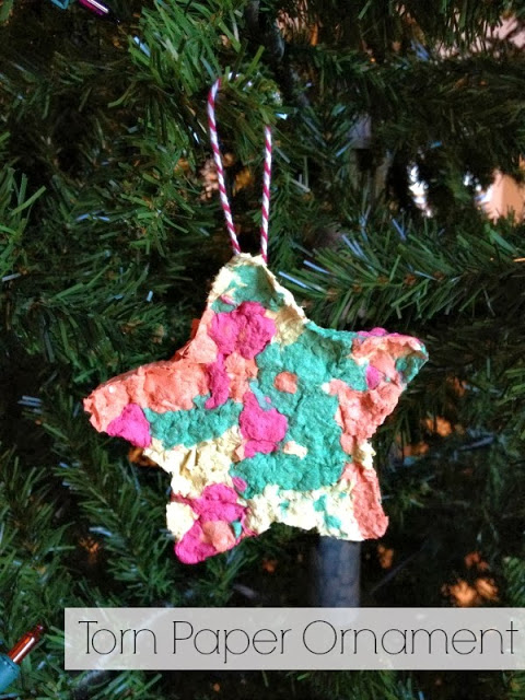 Torn Paper Christmas Ornaments Pin Title