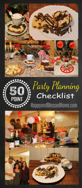 50 Point Party Planning Checklist HappyandBlessedHome.com