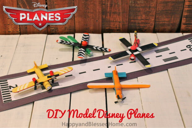 All Four Model Disney Planes from Clothespins HappyandBlessedHome