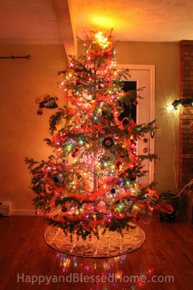 An All Natural Family Christmas Tree 2014 All Images Copyright HappyandBlessedHome