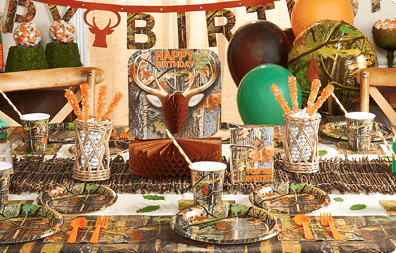 Camouflage Hunting Theme Party Fun - Happy and Blessed Home