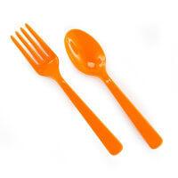 Birthday Express Orange Fork and Spoon