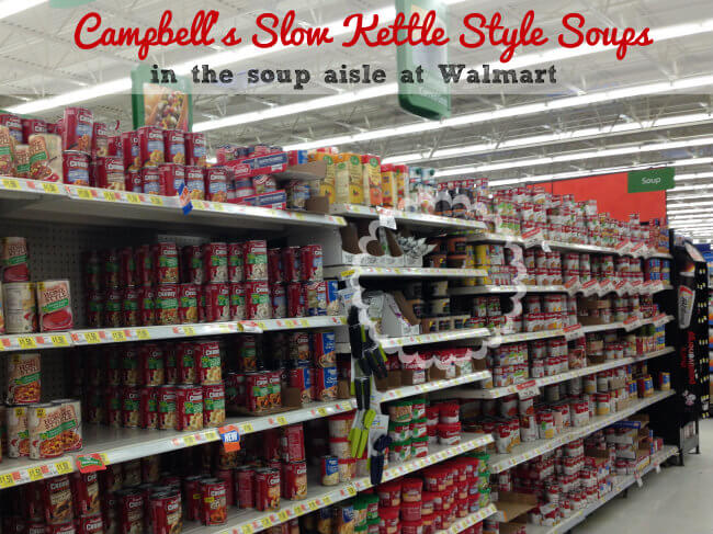 Campbells Slow Kettle Style Soups in the soup aisle at Walmart