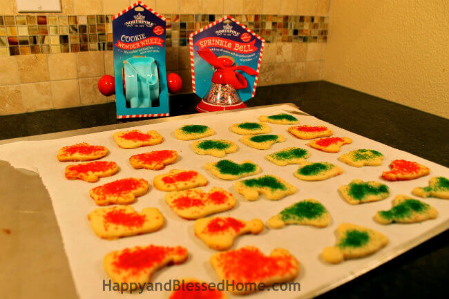 Christmas Cookies with Northpole Cookie Wonder Wheel and Sprinkle Bell HappyandBlessedHome.com