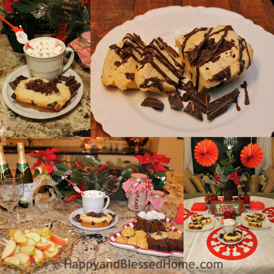 Christmas Themed Party with Kraft Cream Cheese and Bakers Chocolate HappyandBlessedHome.com