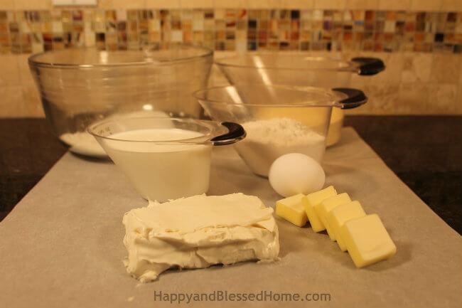 Creamy Corn Bread Ingredients HappyandBlessedHome.com
