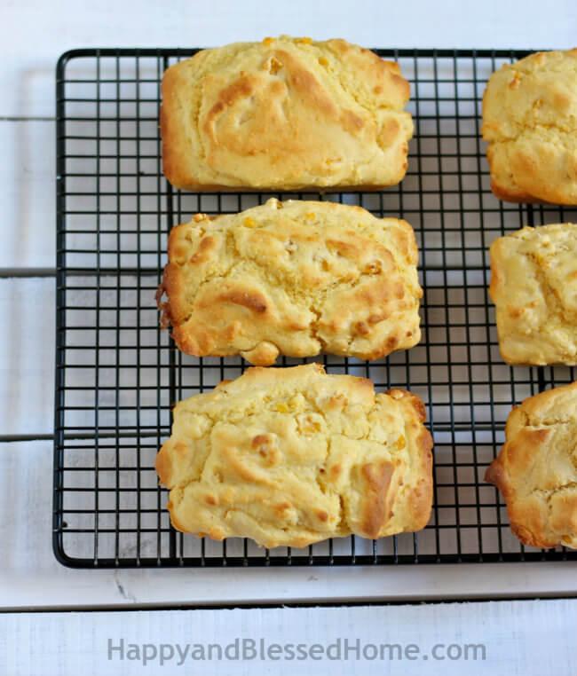 Creamy Corn Bread Recipe from HappyandBlessedHome.com