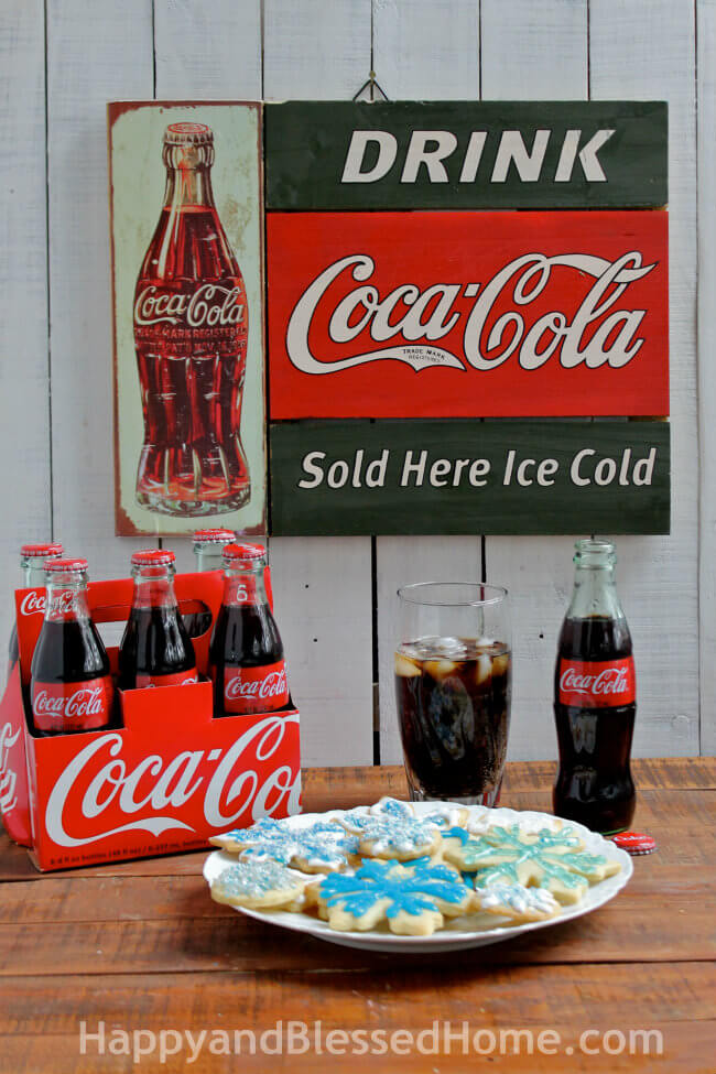 Creating RealMagic with Coca Cola and a Snowflake Cookie Tutorial from HappyandBlessedHome.com