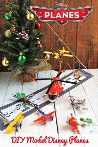 DIY Craft Model Disney Planes made from Wooden Doll Pins great Christmas Ornaments or Birthday Party Disney Planes Decorations from HappyandBlessedHome.com