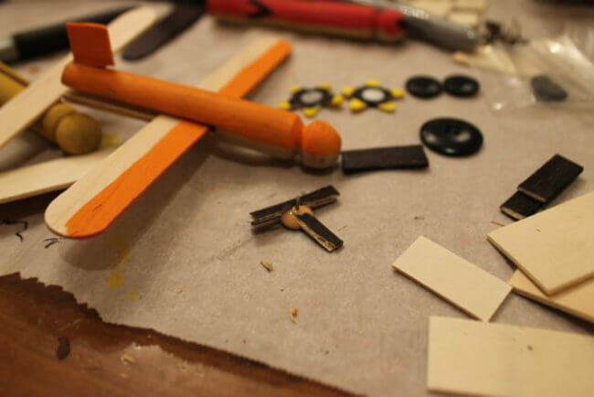 DIY Disney Planes Model Airplane Tutorial using Wooden Doll Pins from HappyandBlessedHome.com