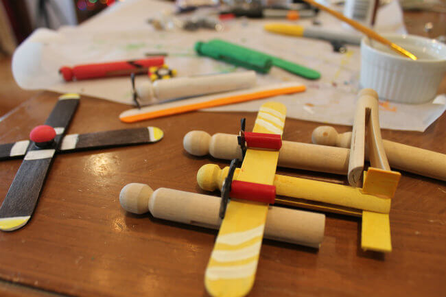 DIY Disney Planes from Clothespins or Wooden Doll Pins Drying Tips HappyandBlessedHome.com