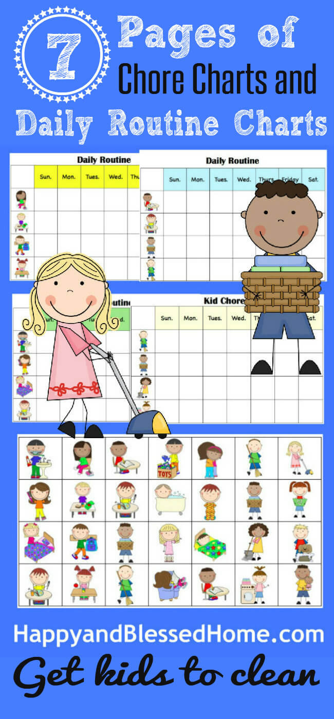 picture regarding Free Printable Chore Cards titled 10 Minutes in the direction of Contemporary and Totally free Printable Chore Charts for Little ones