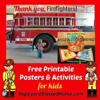 FREE Printable Posters and Activities for Kids to thank the men and women who serve in our communities from HappyandBlessedHome.com