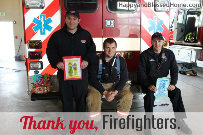 Give Extra Gum as a Gift to Firefighters Give Extra on HappyandBlessedHome.com