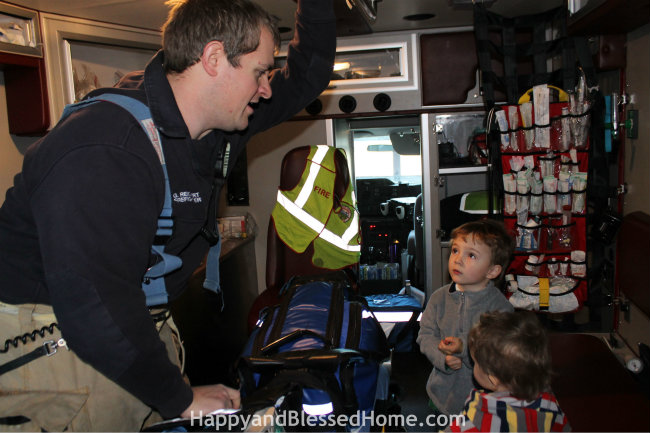 Give Extra Gum as a Gift to Firefighters and a Tour of an Ambulance from HappyandBlessedHome.com