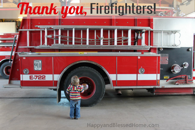 Giving Back - Give Extra Gum as a Gift to Firefighters HappyandBlessedHome.com