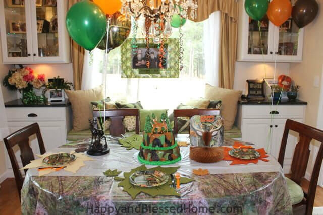 Hunting Theme Parties with Camouflage and Duck Dynasty BR from HappyandBlessedHome.com