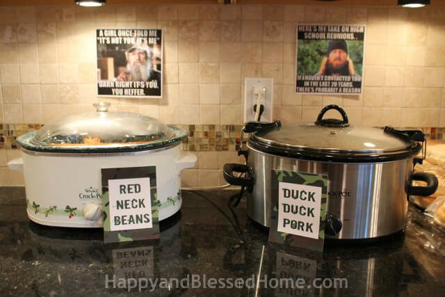 Camouflage hunting theme party fun happy and blessed home hunting theme parties with camouflage and duck dynasty crock pots from happyandblessedhome filmwisefo Gallery