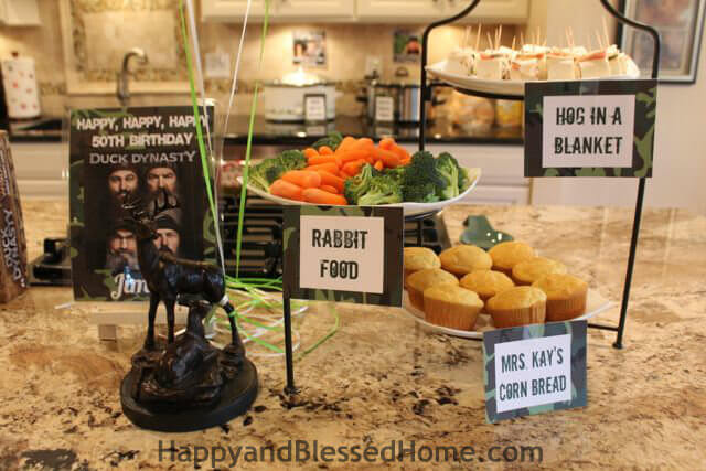 Camouflage hunting theme party fun happy and blessed home hunting theme parties with camouflage and duck dynasty food from happyandblessedhome filmwisefo