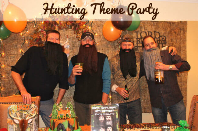 Hunting Theme Parties with Camouflage and Duck Dynasty our 4 Winners from HappyandBlessedHome.com
