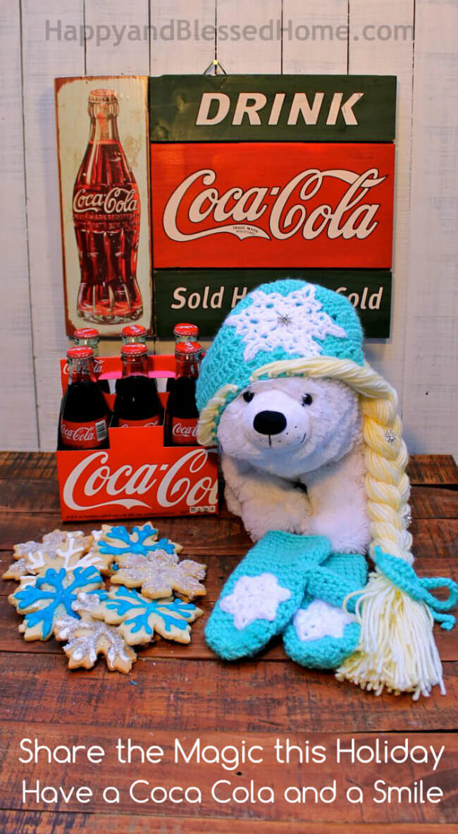 Share the RealMagic this holiday - have a Coca Cola with friends HappyandBlessedHome.com