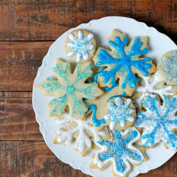 Snowflake Cookie Decorating Tutorial for Foodgawker